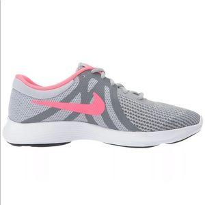 Nike Revolution 4 Girls Sneakers Grey/ Pink 6Y
